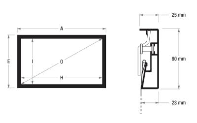 adeo Screen FramePro Zeichnung